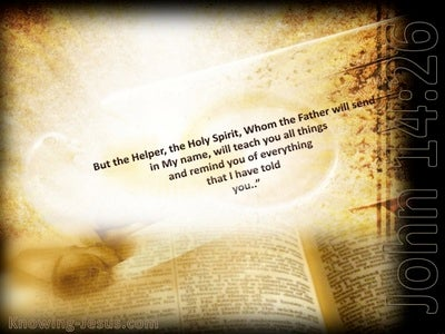 John 14:26 The Holy Spirit Whom The Father Will Send (beige)